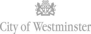 Logo city of westminster grey