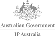 Logo ip australia grey