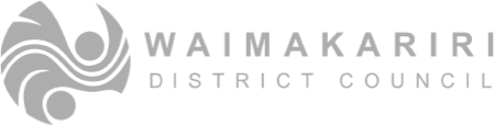 Logo waimakariri district council grey