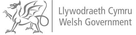 Logo welsh government grey
